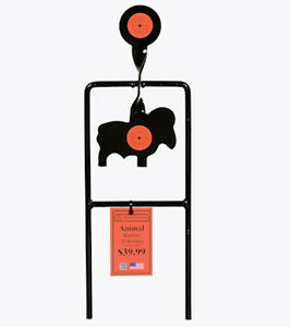Taylor-Targets-50668-Animal-Spinning-Target-Rimfire-22-Caliber-Two-Disc-Steel