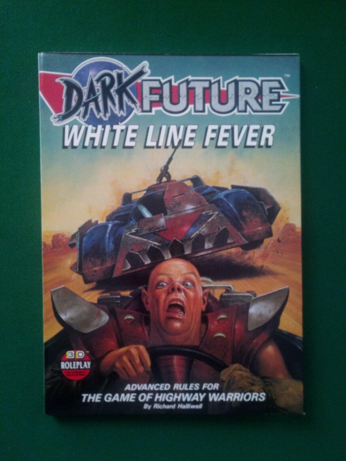 Games Workshop Dark Future Weiß Line Fever Supplement Supplement Supplement 1988 NEW 398a3d