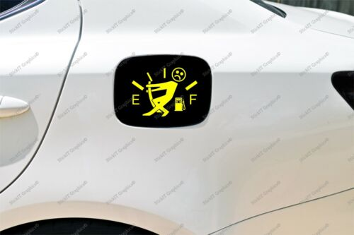 Funny Gas level Decal Funny Gas consumption decal for all types of cars.