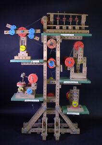 RAR-orig-Schaufensterdisplay-MATADOR-Korbuly-Holzspielzeug-ANTRIEBSMODELLE