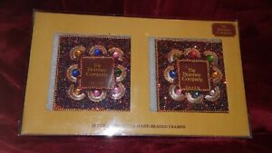"""The Bombay Company,Set of 2 MULTI COLOR Harlequin Beaded Picture Frames,4x4"""""""