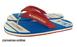 Mujer-Hombre-Converse-All-Star-Chuck-Taylor-Azul-Rojo-Sandalias-Flip-Flop-38-Size-UK-5