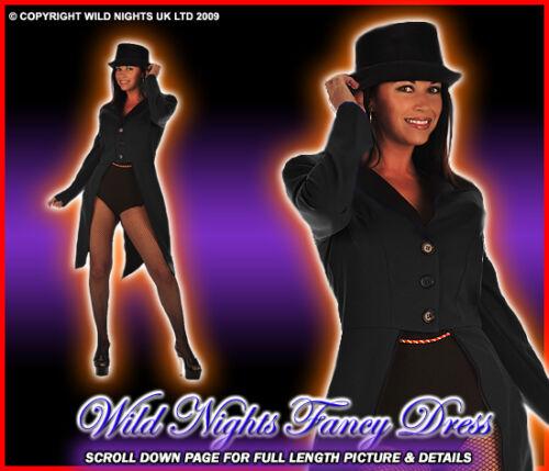 CIRCUS 20 LADY RINGMASTER BLACK FANCY DRESS COSTUME