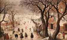 Avercamp Hendrick Winter Landscape 3 A4 Print