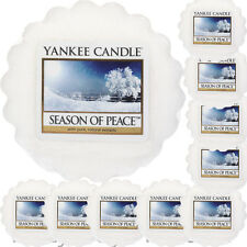 10 YANKEE CANDLE WAX TARTS Season Of Peace CHRISTMAS Scented XMAS MELTS