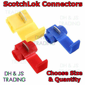 scotch lock wire connectors quick splice scotchlok electrical cable rh ebay com how to use scotch lock wiring connectors Ideal Wire Connectors
