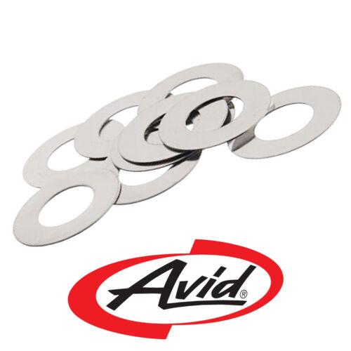 AVID Bike Brake Disc Rotor Shim Spacer Washer •M6 •0.5mm •Stainless •10 Pack