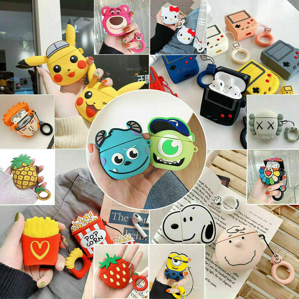 Cute 3d Cartoon Silicone Case Cover For Airpod 1 2 Charging Case