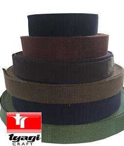 40mm COTTON WEBBING BUNTING HERRINGBONE Belting Fabric Strap Bag maroon