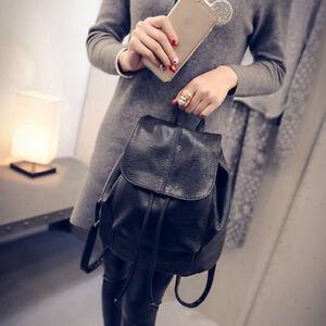 Fashion-Leather-School-Bag-Travel-Cute-Backpack-Satchel-Shoulder-Rucksack-AA