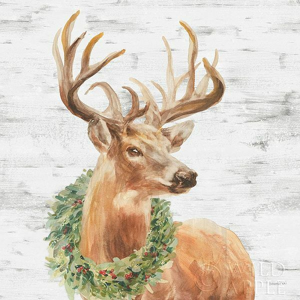Danhui Nai  Woodland Holidays Stag Keilrahmen-Bild Leinwand Hirsch Geweih Wild