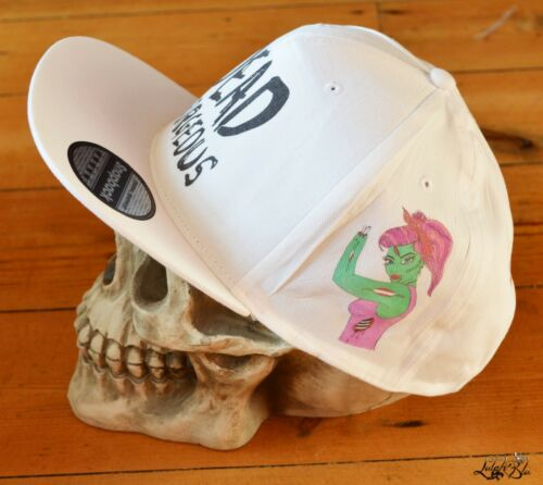 Style Gorgeous Cap Flat Snapback Peak White Cool Hat Rapper Dead Summer Pq7ATS