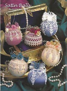 Crochet Pattern ~ SATIN BALL ORNAMENTS Christmas Balls ...