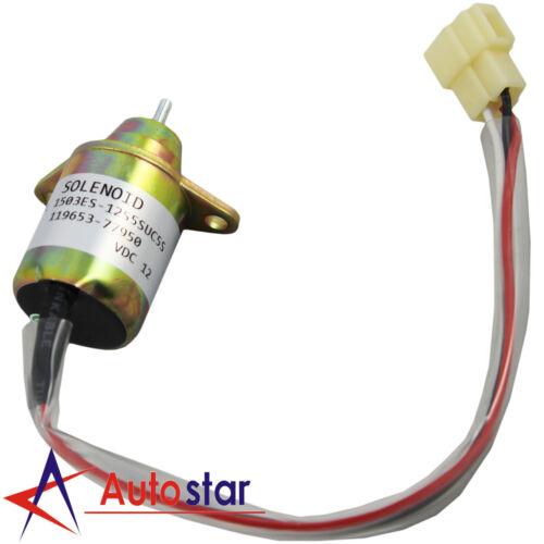 Diesel Shut Off Solenoid 119653-77950 1503ES 12K5SUC5S SA4562 FOR Kubota John
