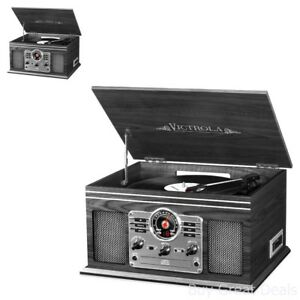 Retro-Vintage-Look-Radio-CD-Cassette-Mp3-Record-Player-Bluetooth-Turntable-Vinyl