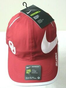 Nike Featherlight Aerobill Oklahoma Sooners Big Swoosh Mens Hat Crimson Red