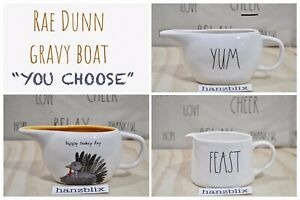 Rae-Dunn-Gravy-Boat-Sauce-FEAST-YUM-POUR-FAMILY-Turkey-Day-034-YOU-CHOOSE-034-NEW-039-19