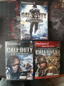 PS2-Call-of-Duty-Games-LOT-of-3-Call-of-Duty-3-Finest-Hour-World-at-War