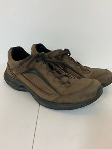 ecco mens size 44 brown leather athletic casual walking