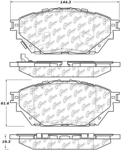 Disc Brake Pad Set-Premium Semi-Met Pads w//Shim and Hardware fits Canter FE160