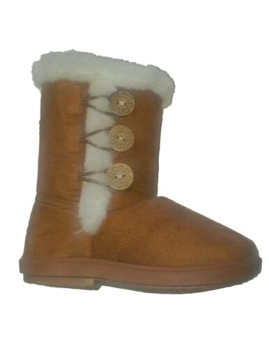 New Infant Baby Toddler Girls Buttons Dress Winter Casual Boots Shoes sz 5-13