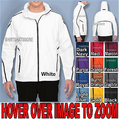 Big Mens Hooded Jacket Water Repellent Sweatshirt Fleece Lined Coat XL 2X 3X 4X