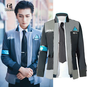 Detroit Become Human Rk800 Connor Outfit Cosplay Mens Jacket Coat Costume Lot Ebay