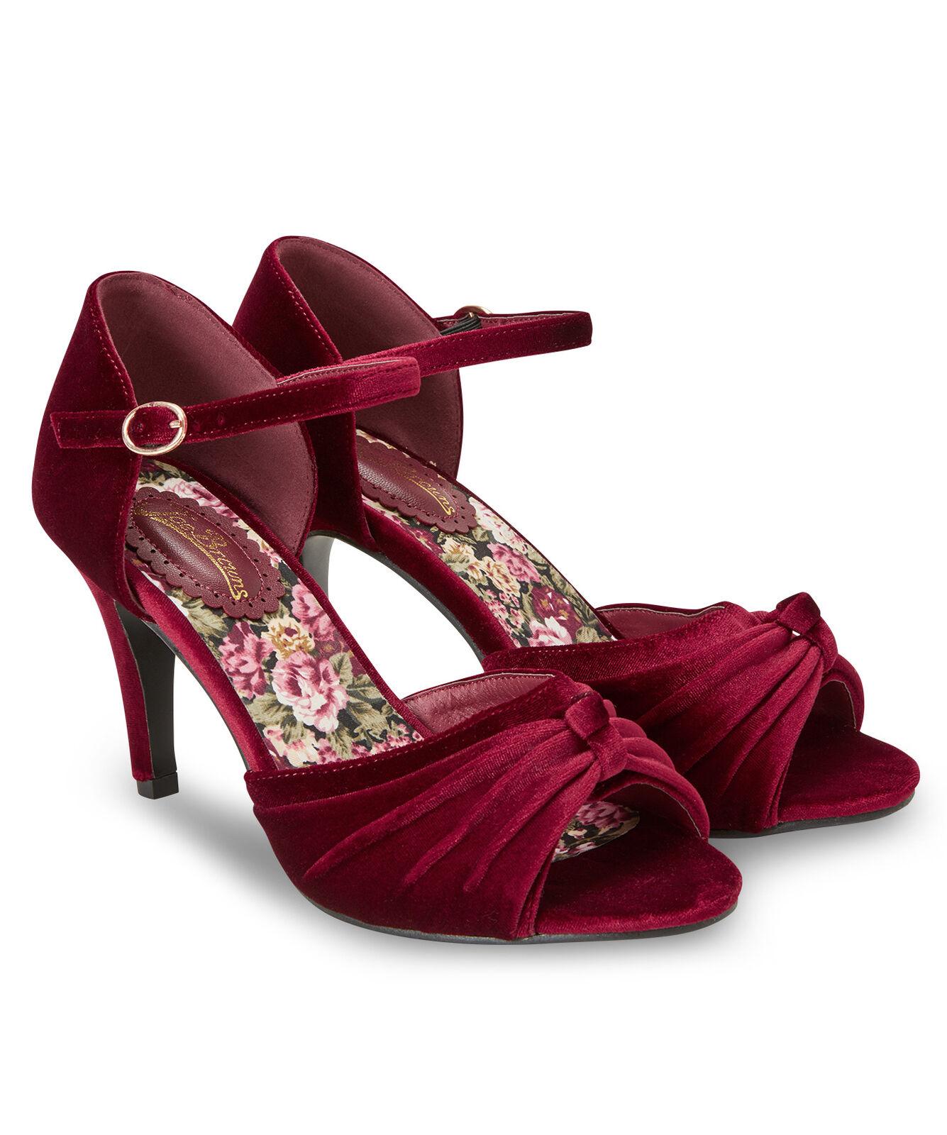 Joe brauns damen damen damen Velvet Ankle Strap schuhe Ruby A 4 6ce318