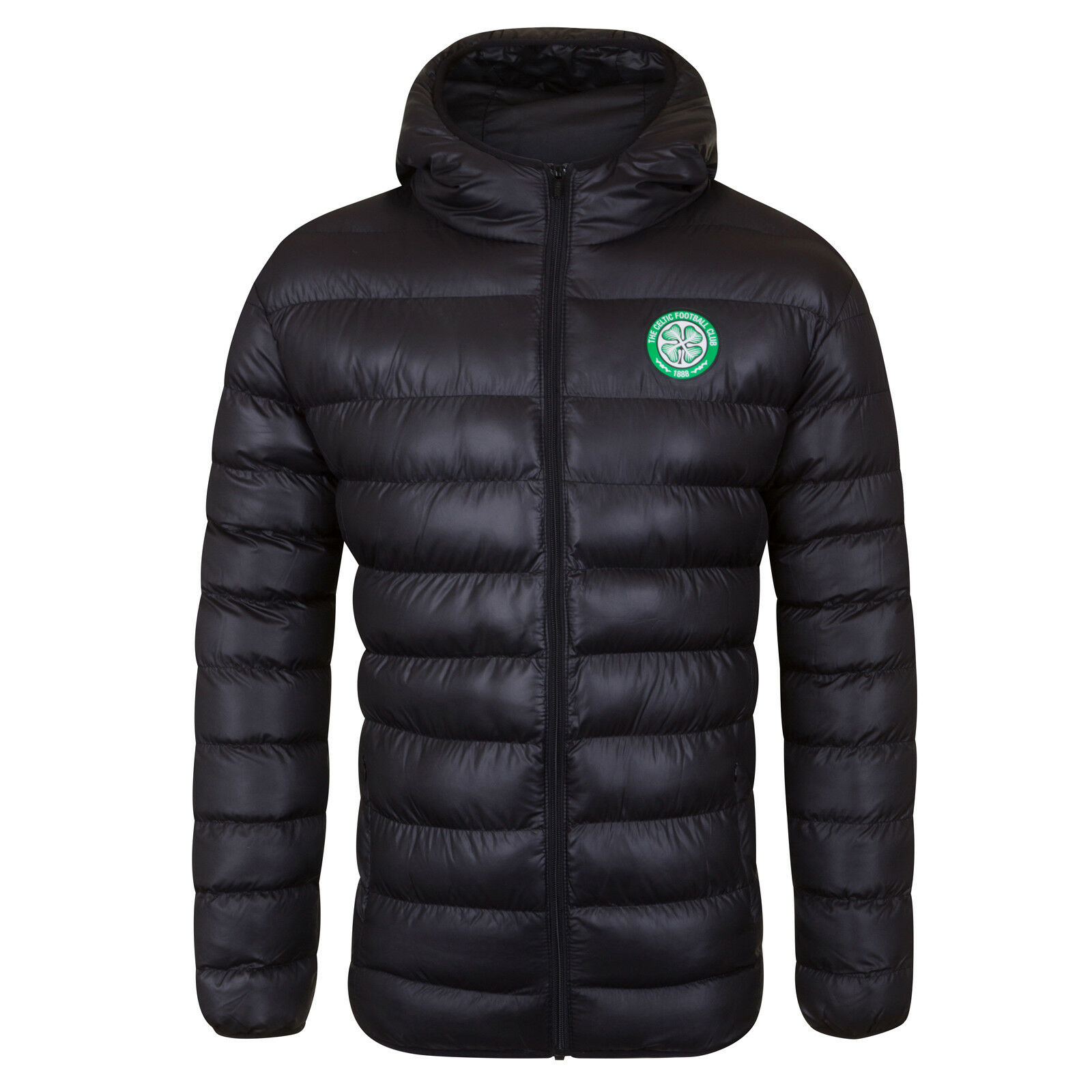 Celtic FC - Herren Winter-Steppjacke mit Kapuze - Offizielles Merchandise