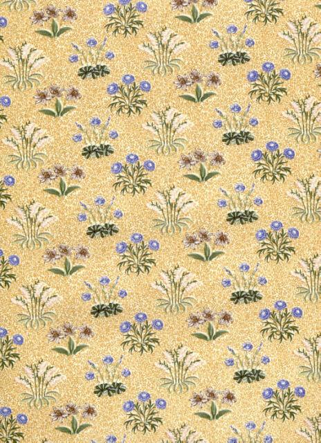 Rare British ROSE & HUBBLE Art Nouveau WILLIAM MORRIS Fabric Maidens GOLD