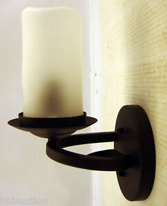 Image Is Loading Candle Light Wall Sconce Electric Oil Rubbed Bronze