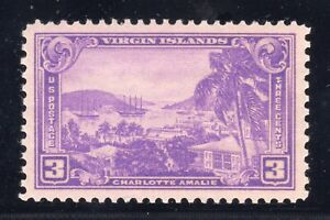 Details about US STAMP #802 --- 3c VIRGIN ISLANDS - XF-SUP - MINT/UNUSED -  GRADED 95
