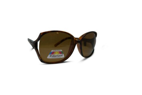 Womens Designer Polarised Oversized Vintage Round Sunglasses UV400 Tortoiseshell