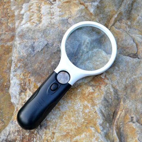 Hot 10X 20X 3 LED Lighting Handheld Magnifier Magnifying Lens Glass JewelryRHB