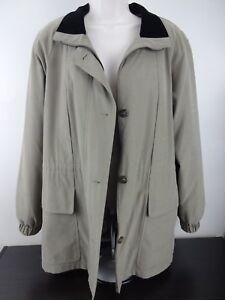 Ladies-All-Weather-Jacket-Coat-Used-Tan-Green-Medium