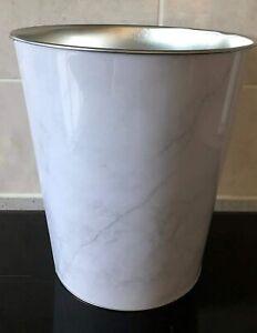 Marble-Effect-Waste-Paper-Basket-Rubbish-Bin-Kitchen-Office-Bathroom