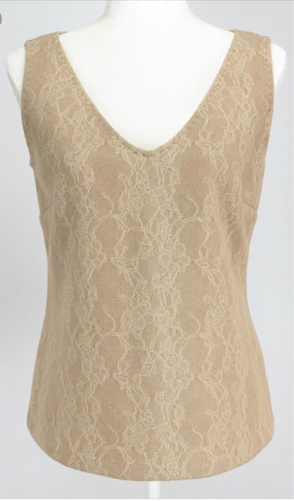 Max Mara Genzana Wool Lace Sleeveless Top Size S NWT