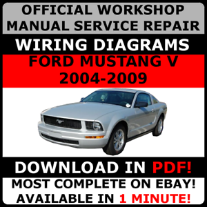 image is loading official-workshop-repair-manual-for-ford-mustang-v-