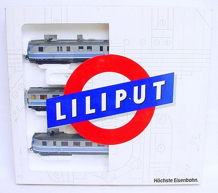 Liliput HO 1:87 VT 06 DB  TAUBENBLAU  1950 DIESEL MULTIPLE UNIT SET MIB RARE