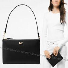 Michael Kors Medium Pebbled Leather Convertible Pouch Black