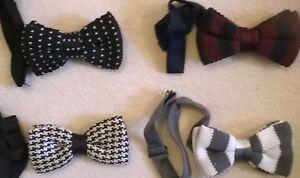 Knitted-wool-bow-tie-Vintage-style-neck-bowtie-NEW-Stylish-fashion-wedding-etc