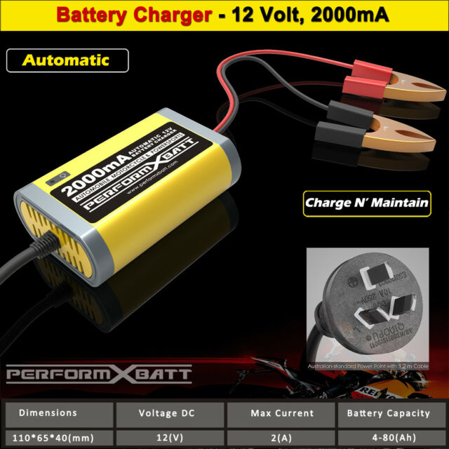 12v 1.5 Amp Trickle Charger Automatic Battery Car Fully 12 Volt 15 Bike Quad