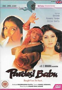 Pardesi babu govinda shilpa shetty new bollywood dvd image is loading pardesi babu govinda shilpa shetty new bollywood dvd altavistaventures Choice Image