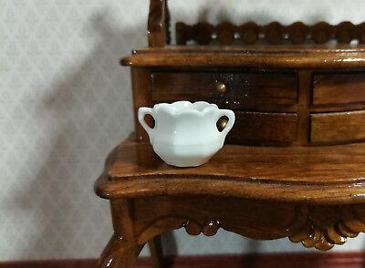 1:12 Dollhouse Miniature Porcelain Ginger Jar//Urn with Removable Lid #RP538C