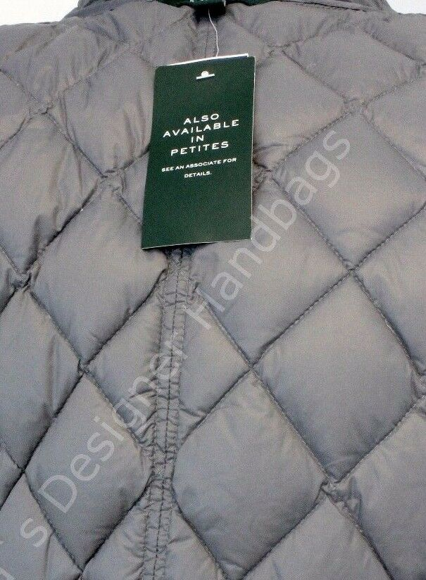 NWT RALPH LAUREN Womens Down Feather Fill Quilted Coat Coat Coat Medium  275.00 2a1de5