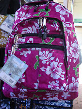 Hawaii Spirit Hawaiian Print Pink School Backpack Hiking Travel Shopping H02