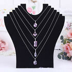 Necklace Jewelry Pendant Chain Display Holder Neck Velvet Stand Dramatic