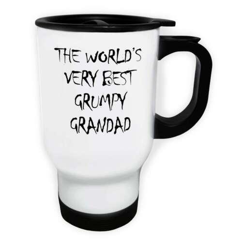 Grincheux Grandad cadeau idéal drôle blanc//acier Voyage 14 oz environ 396.89 g Tasse a39t