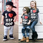 Cute Kids Baby Boy Girls Shirts Tops Short Sleeve Cotton T-Shirt Summer Clothing