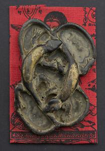 Jing Jok Amulett Gecko Lizard Schwarz Thai 2 Endstücke Reichtum Fortune Loto